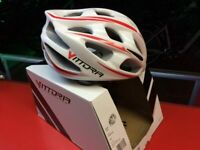 casco vittoria v900 mtb s/m 54-58 bianco/rosso
