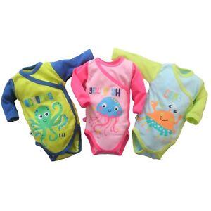 100% COTTON Baby Infant Boys/Girls Bodysuit Playsuit Babygrow Newborn/up to 3m