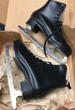 New listing Lange Taurus Sr Mens sz 10 leather black Figure Skates New
