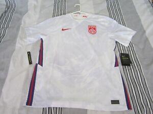 New Men's China White Nike Soccer Football Jersey 2020-2021 Shirt Large