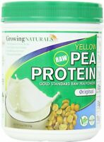 Gold Standard Raw Yellow Pea Protein Powder, Growing Naturals, 16 oz Natural
