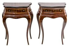 Antique French Italian Pair of Maggiolini Bedside Cabinets, Marquetry & Bronzes