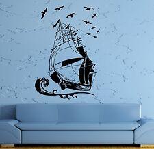 Wall Stickers Vinyl Decal Ship Yacht Marine Ocean Pirate Kids Room (ig960)