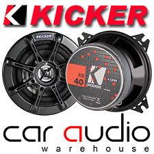 """KICKER KS40 4 """"Pollici 10cm 120 WATTS Coppia KS 2 VIE AUTO COASSIALI ALTOPARLANTI PORTA"""