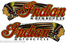 """INDIAN MOTORCYCLE DOUBLE DECAL LEFT AND RIGHT  GUMBALL TOYS CUSTOM 4.5"""" X 1.406"""""""