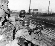WWII Photo MG42 in action photo German WW2 MG34 World War Two Wehrmacht