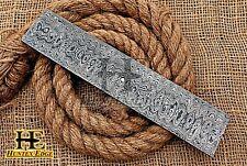 HUNTEX Forged Damascus Steel 25 cm Ladder Pattern BlankBlade Billet Knife Making