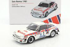 PORSCHE 911 SC talla 4 #1 RALLY DE SAN REMO 1981 Röhrl , Geistdörfer 1:18