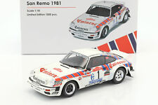 Porsche 911 SC taille 4 #1 Rallye San Remo 1981 Röhrl, esprit villages 1:18 OttOmobile
