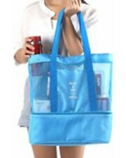 Xix Beach & Picnic Tote with Cooler Blue