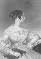 Casabianca Romanticism Poet FELICIA Dorothea HEMANS ~ 1873 Art Print Engraving