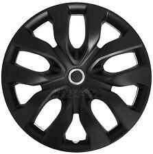 "15"" Black Set of 4 Wheel Covers Snap On Full Hub Caps fit R15 Tire & Steel Rim"