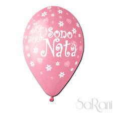 Palloncini Festa Sono Nata 20pz Palloni Rosa Bimba Party Decorazioni 30cm SARANI