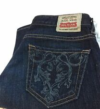 BIG STAR JEANS SZ 25 R LOU EASY BOOT DARK WASH VINTAGE WOMEN'S USA EUC