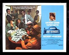 ACROSS 110TH STREET * CineMasterpieces ORIGINAL MOVIE POSTER 1972 MOB GANGSTER