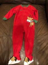 Warm Holiday Reindeer Pajamas Size 24 Months