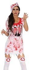 Ladies Sexy Dead Zombie Bloody Nurse Halloween Fancy Dress Costume Outfit 10-14