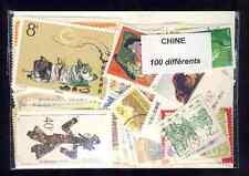 Chine - China 100 timbres différents oblitérés