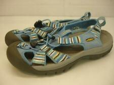 Women's 8 M Keen Venice H2 Sandals Slip-On Waterproof Blue Striped Bungee Sport