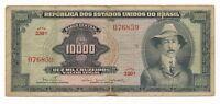 1966 Brazil 10000 Cruzeiros P. 182Ba Series 330  Scarce Note