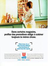 Publicité Advertising 028  1996  Magasins Super U  hyper U conserves