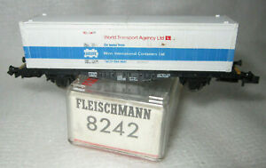 FLEISCHMANN 8242 N PICCOLO DB WORLD TRANSPORT AGENCY CONTAINER WAGON TYPE LBS