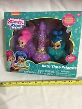 Nickelodeon -NEW Shimmer and Shine Bath Set -Bath Time Friends -Body Wash