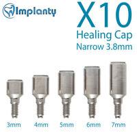 10 Narrow Healing Cap 3.8mm Dental Abutment internal Hex Fit Alpha Bio Adin Mis