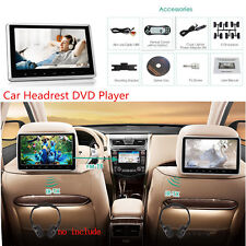 10.1'' LCD TFT Car Headrest Monitor Plug&Play DVD Player HD Video USB/SD/HDMI