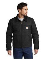 Carhartt Duck Detroit Jacket Black Size Men's 2XLarge New W tags Free shipping