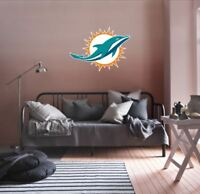 Miami Dolphins NFL Team Logo Color Printed Decal Sticker Car Window Wall