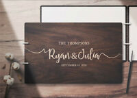 Wedding Guestbook Custom Guest Book Personalized Wooden Wedding Guest Book