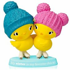 Sister Chicks 2014 Hallmark Ornament  Chickens  Family Sisters Love  Ice Skating