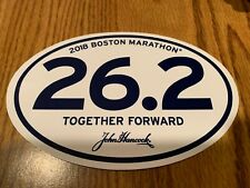 2018 Boston Marathon Official Bumper Sticker John Hancock 26.2 miles April 16