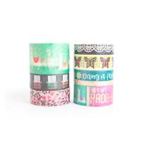 Craft Smart Washi Tape Tube LLAMA GOLD 8 rolls washi tape planner