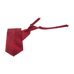 Red Sparkling Banded Straight Tie