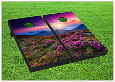 VINYL WRAPS Cornhole Boards DECALS Flower Field Nature BagToss Game Stickers 236