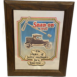 Snap On Tools The Choice Of Better Mechanics Advertising Framed Mirror Wallhang