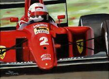Painting Ferrari 641 1990 #2 Nigel Mansell (GBR) door Toon Nagtegaal