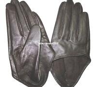 New Women's  (100% Real Sheepskin) Half Palm / Five Finger Leather Gloves