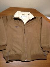 Mens Columbia Nylon Jacket Sherpa Lined Full Zipper Brown Size L