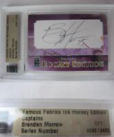 2010 Famous Fabrics Brenden Morrow 1/1 auto 1 of 1 autograph Dallas Stars blues