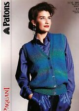 Patons Pageant KNITTING PATTERN, Women V Neck Waistcoat
