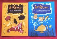Set of 2 Pizza Day Comics Volumes 1 & 2 Signed Zoe Moss Jacob Strick Comic Books