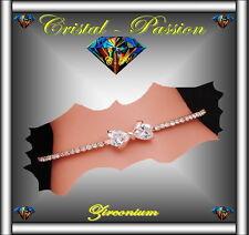 Superbe Bracelet femme  zirconium  noeud pape metal  type or rose rigide   F1