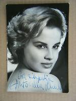 Autografo autograph autographe original signed photo Antonella Lualdi