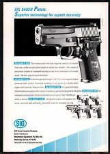 1991 SIG SAUER P228 Pistol PRINT AD British UK Advertising