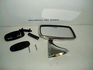 STAINLESS STEEL RH FLAT DOOR MIRROR  MGB MINI MIDGET TR4 - 6 GAM213A
