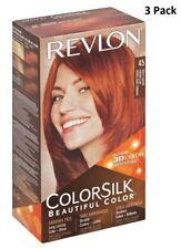 3X Revlon Colorsilk sin Amoníaco Color Permanente Cabello (45 Bright Caoba )