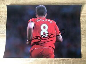 Steven Gerrard Liverpool Signed Photo Football